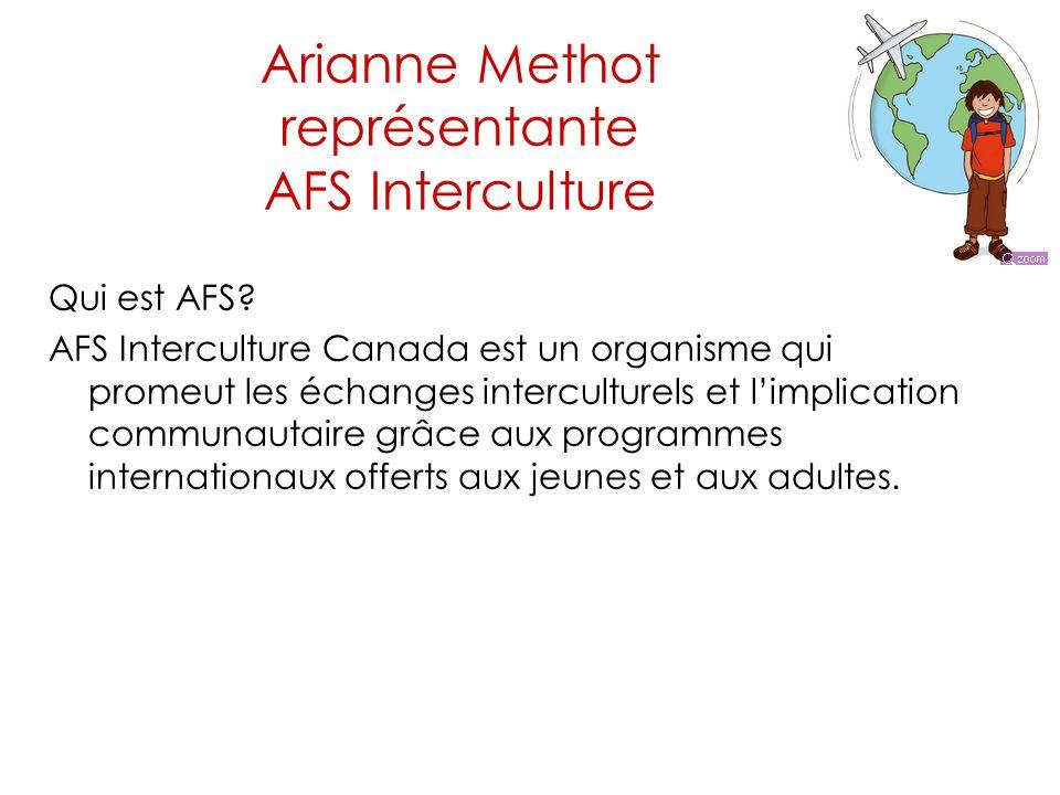 Arianne Methot représentante AFS Interculture