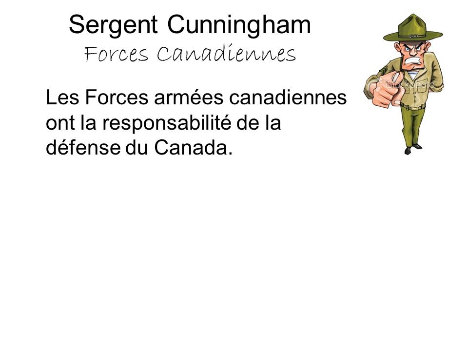 Sergent Cunningham Forces Canadiennes