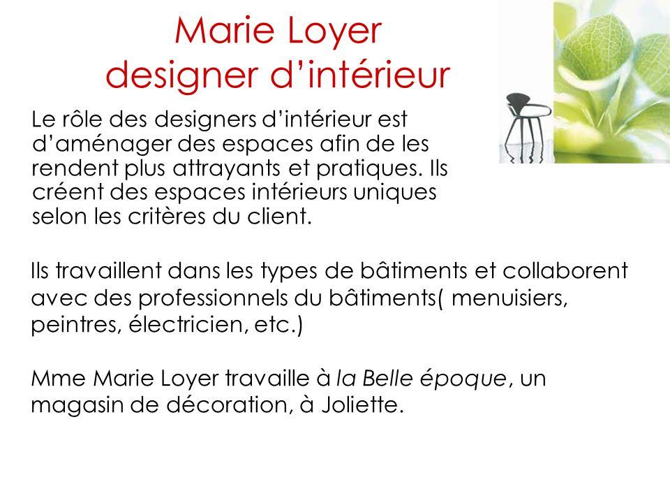 Marie Loyer designer d'intérieur