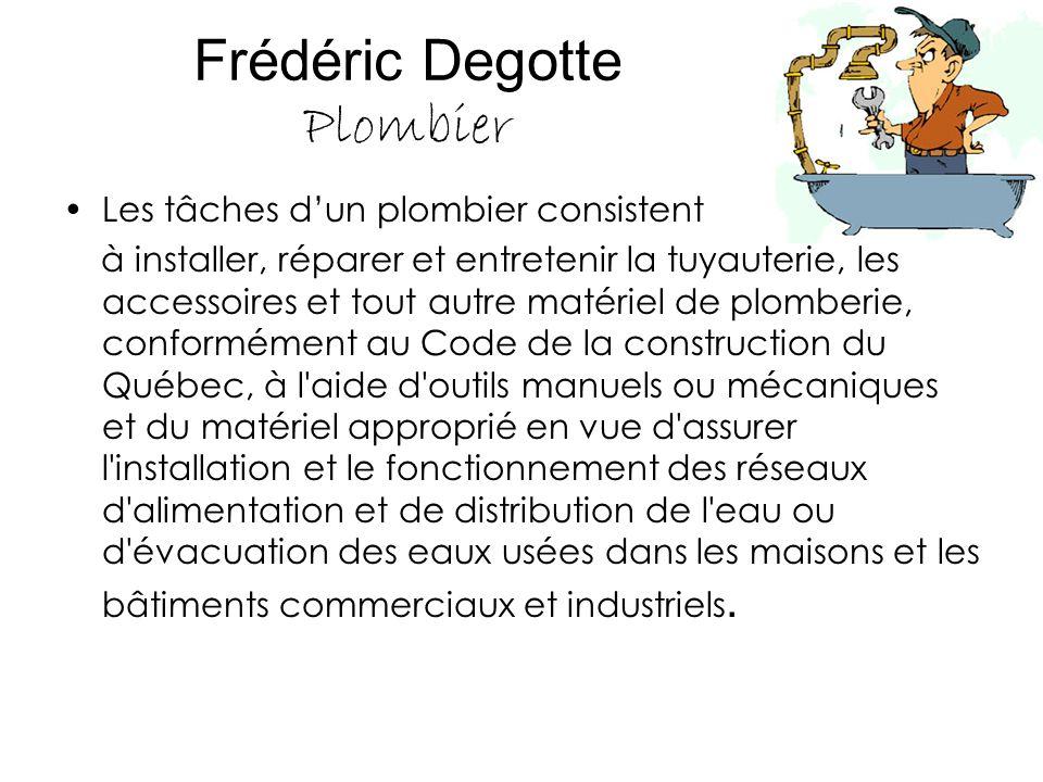 Frédéric Degotte Plombier