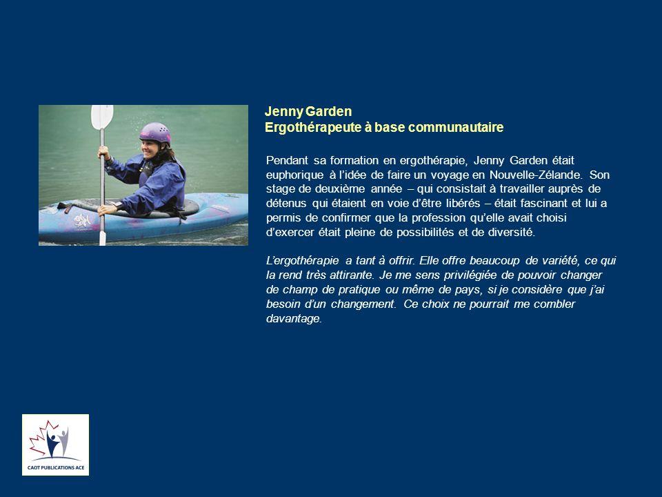 Jenny Garden Ergothérapeute à base communautaire