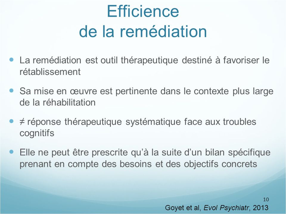 Efficience de la remédiation