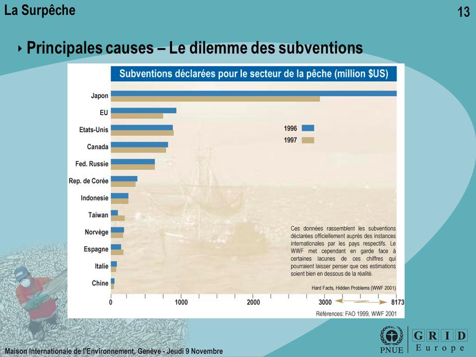 ‣ Principales causes – Le dilemme des subventions