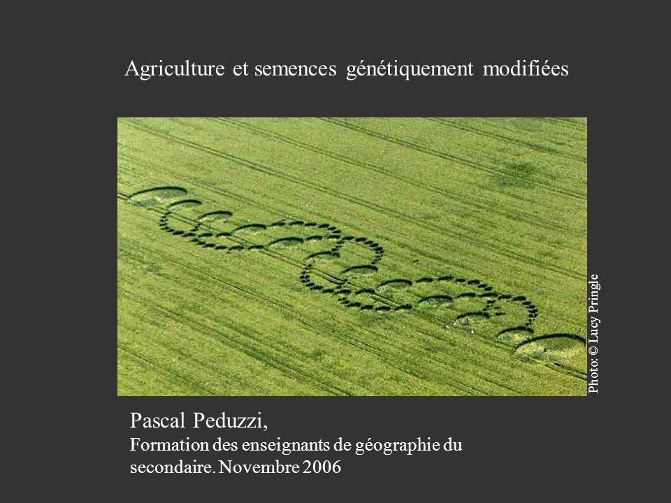 Agriculture et semences génétiquement modifiées