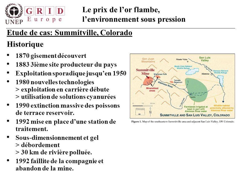 Etude de cas: Summitville, Colorado Historique