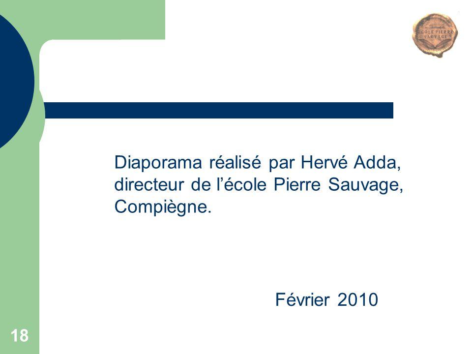 Diaporama réalisé par Hervé Adda, directeur de l'école Pierre Sauvage, Compiègne.