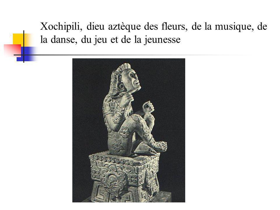 Xochipili, dieu aztèque des fleurs, de la musique, de la danse, du jeu et de la jeunesse