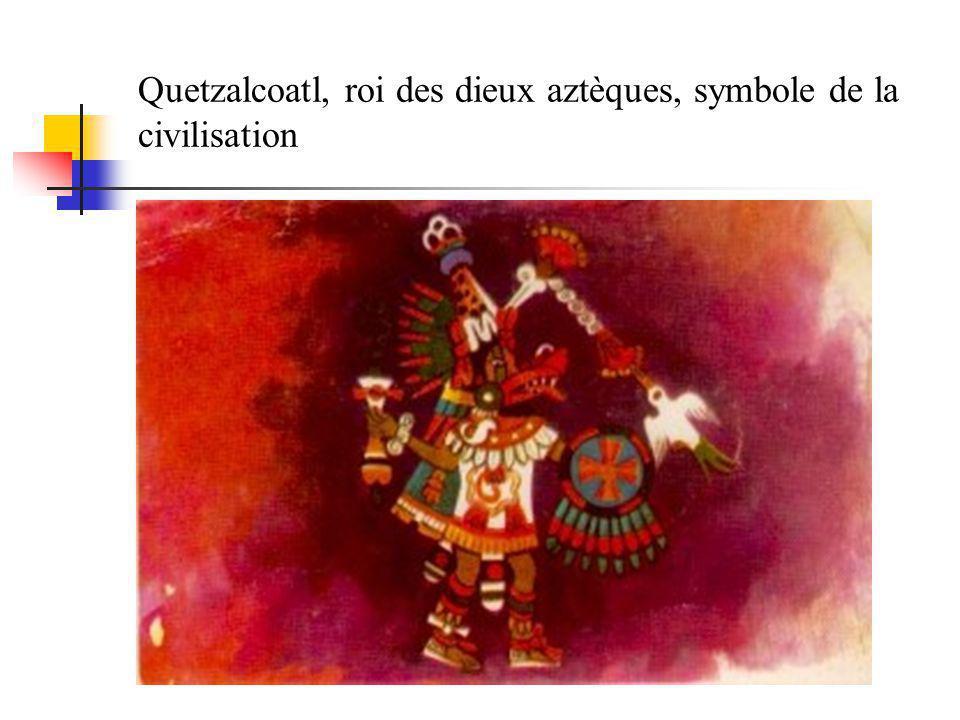 Quetzalcoatl, roi des dieux aztèques, symbole de la civilisation