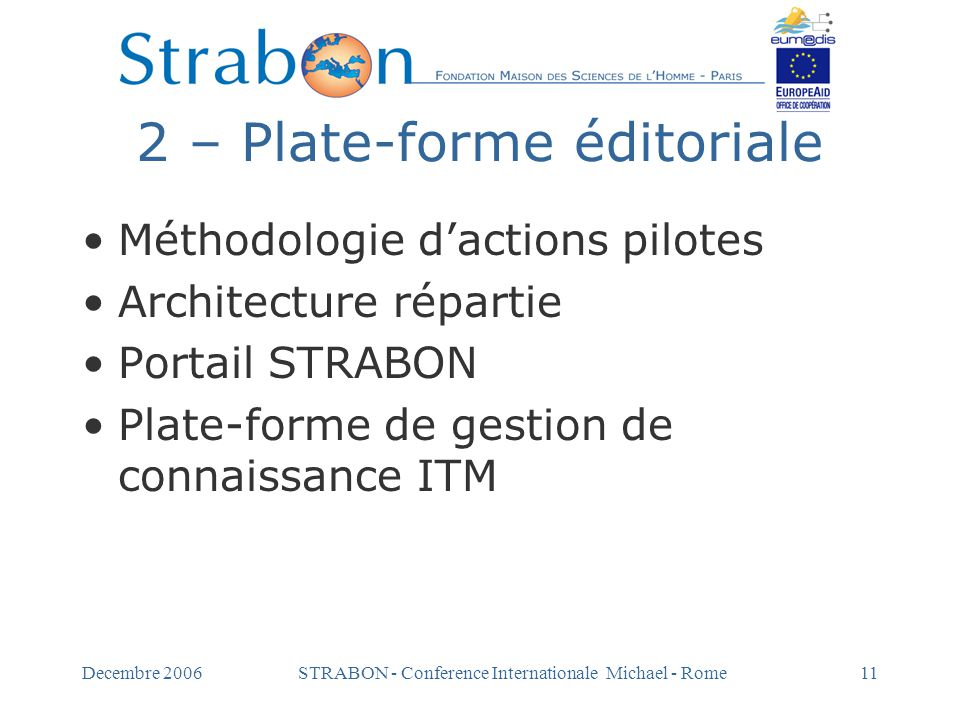2 – Plate-forme éditoriale