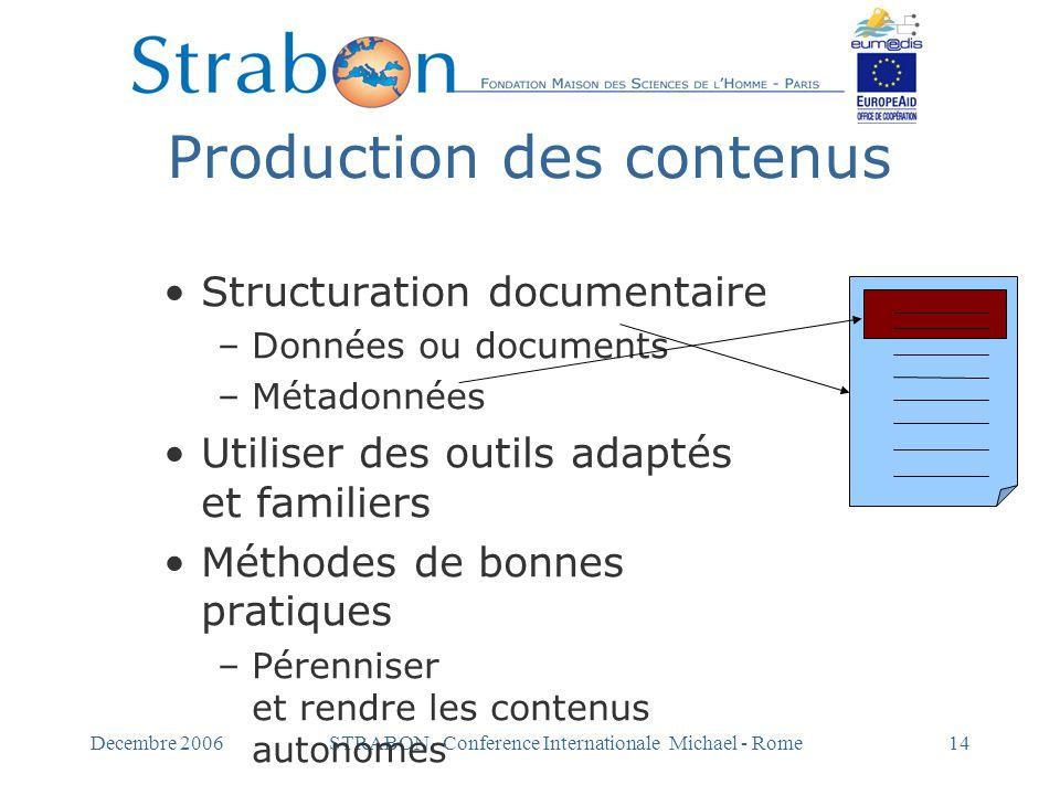Production des contenus