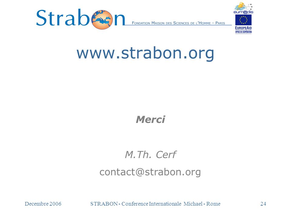 STRABON - Conference Internationale Michael - Rome