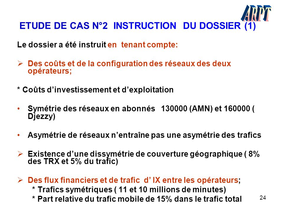 ETUDE DE CAS N°2 INSTRUCTION DU DOSSIER (1)