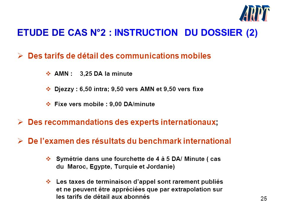 ETUDE DE CAS N°2 : INSTRUCTION DU DOSSIER (2)