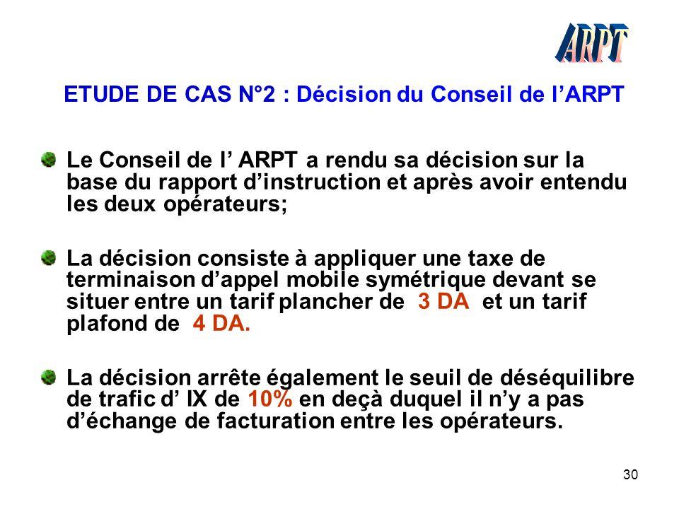 ETUDE DE CAS N°2 : Décision du Conseil de l'ARPT