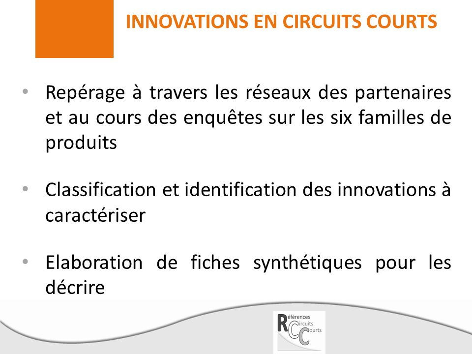 INNOVATIONS EN CIRCUITS COURTS