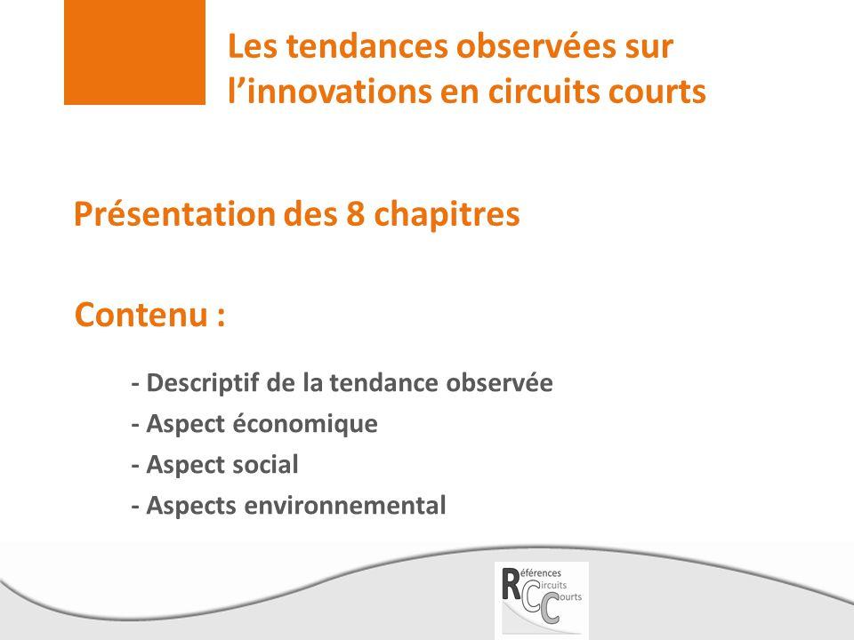 Les tendances observées sur l'innovations en circuits courts