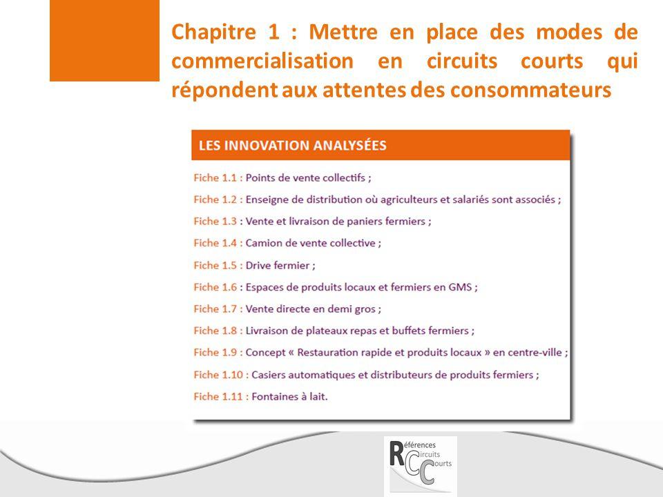 Chapitre 1 : Mettre en place des modes de commercialisation en circuits courts qui répondent aux attentes des consommateurs