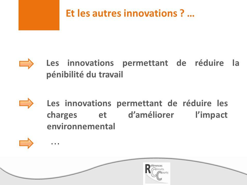 Et les autres innovations …