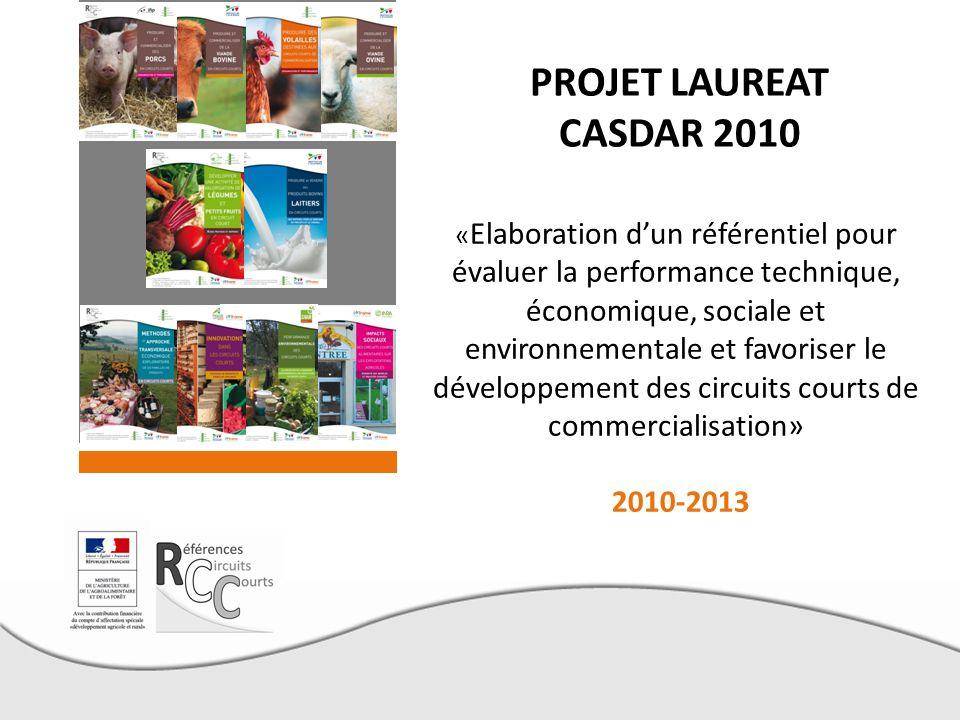 PROJET LAUREAT CASDAR 2010 2010-2013