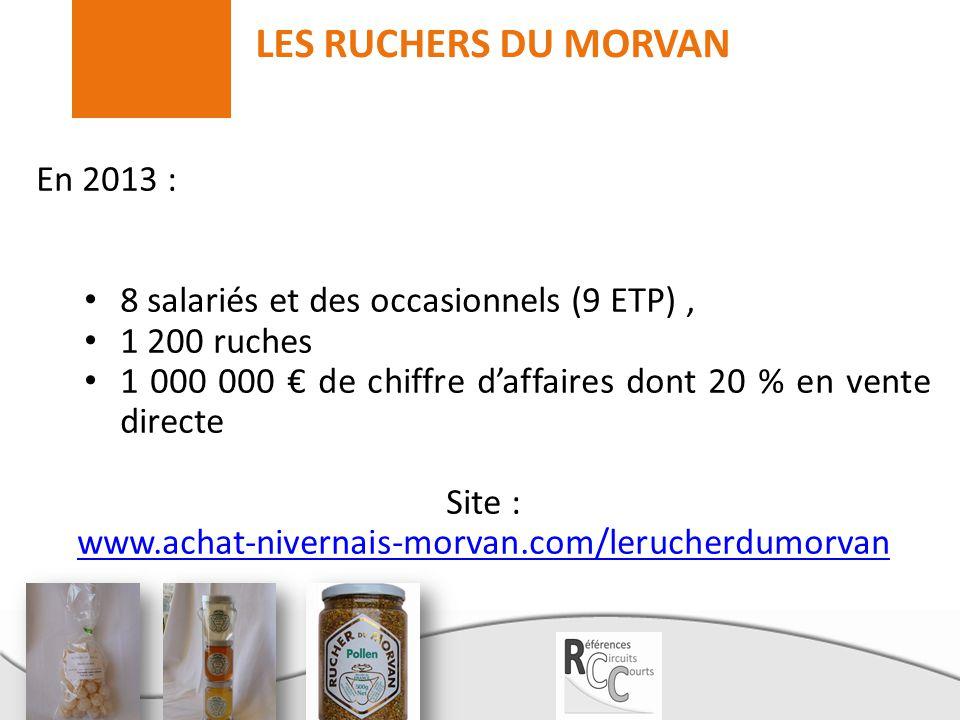 LES RUCHERS DU MORVAN En 2013 :