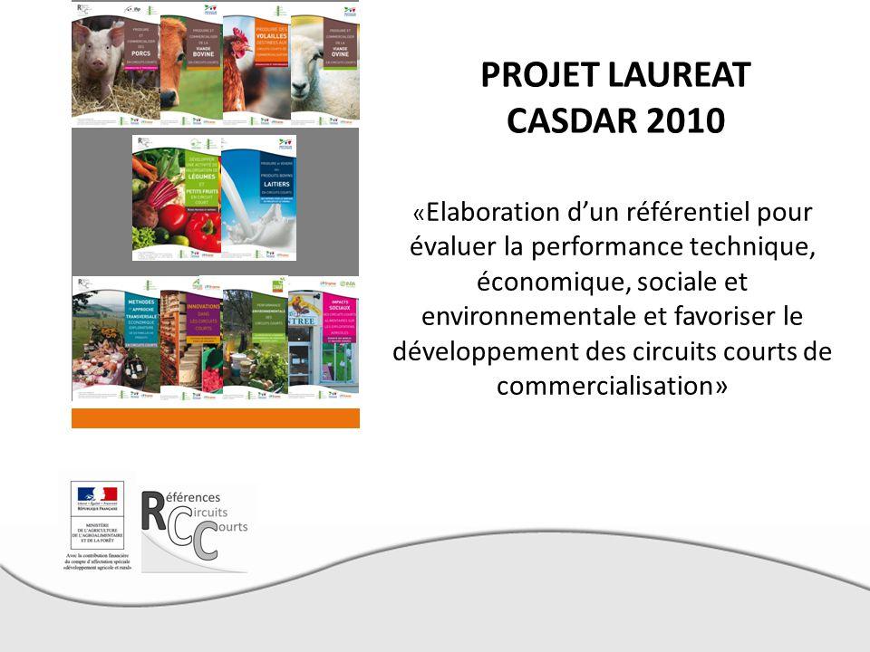 PROJET LAUREAT CASDAR 2010