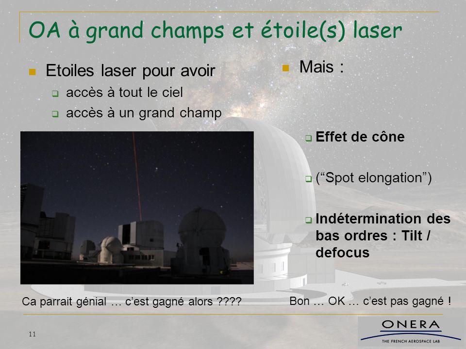 OA à grand champs et étoile(s) laser