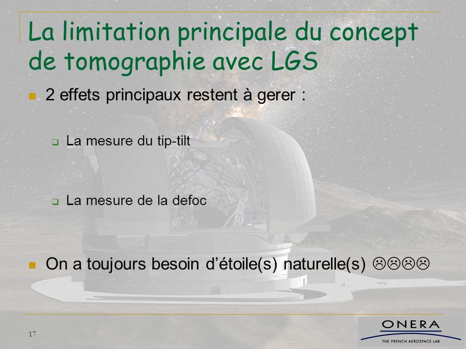 La limitation principale du concept de tomographie avec LGS