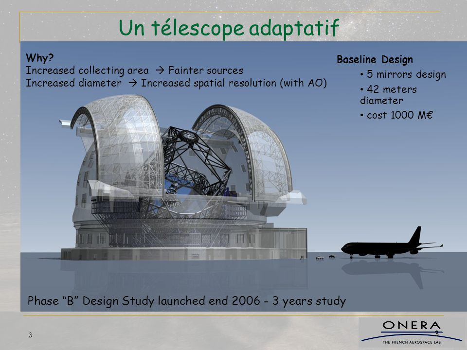 Un télescope adaptatif