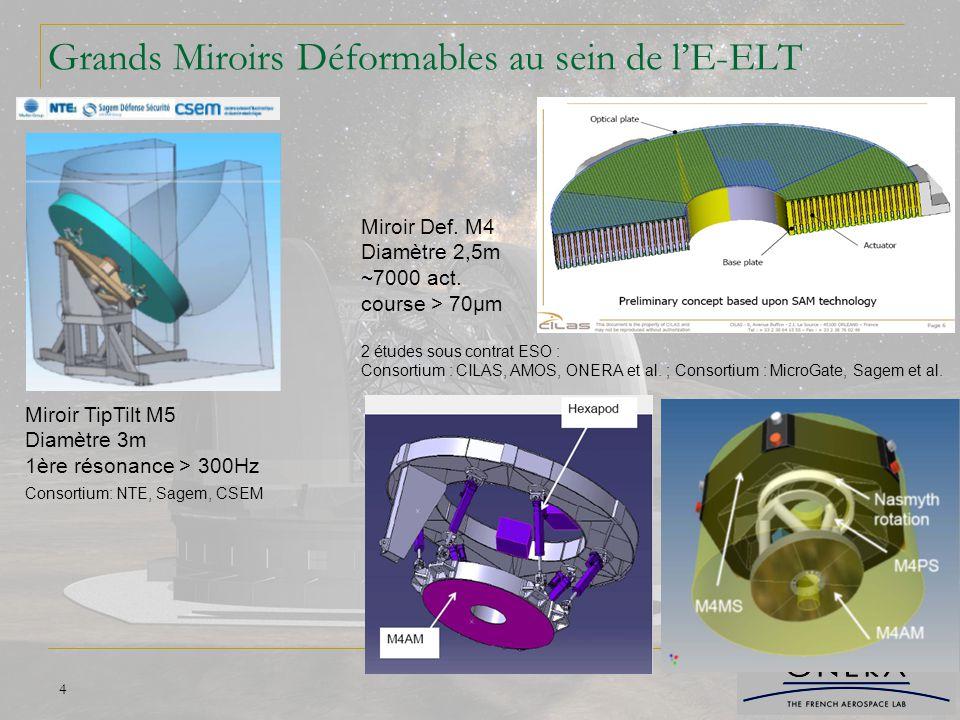 Grands Miroirs Déformables au sein de l'E-ELT
