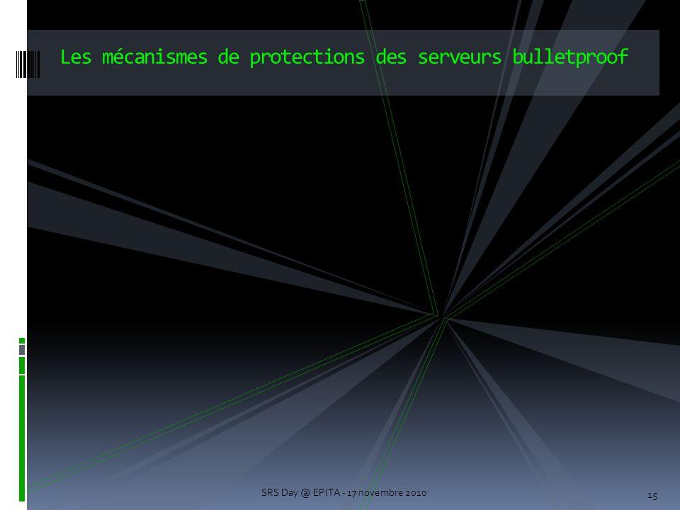 Les mécanismes de protections des serveurs bulletproof