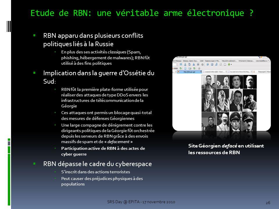 Etude de RBN: une véritable arme électronique
