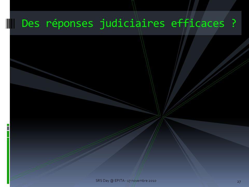 Des réponses judiciaires efficaces