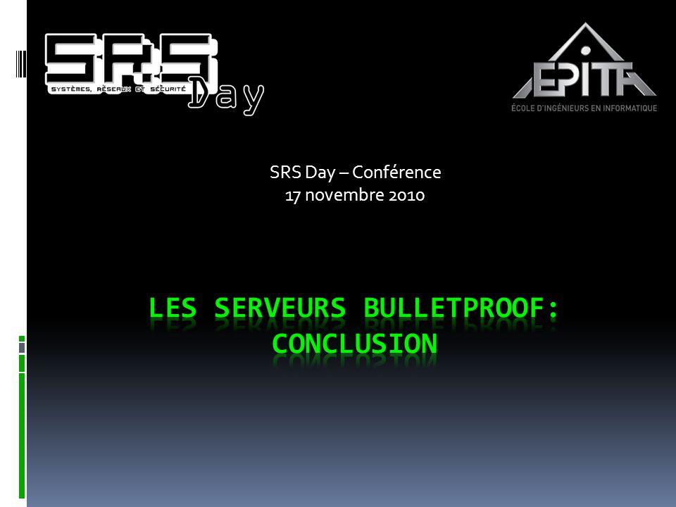 Les Serveurs bulletproof: Conclusion