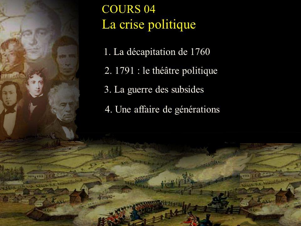 La crise politique COURS 04 1. La décapitation de 1760