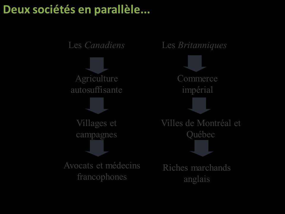Deux sociétés en parallèle...