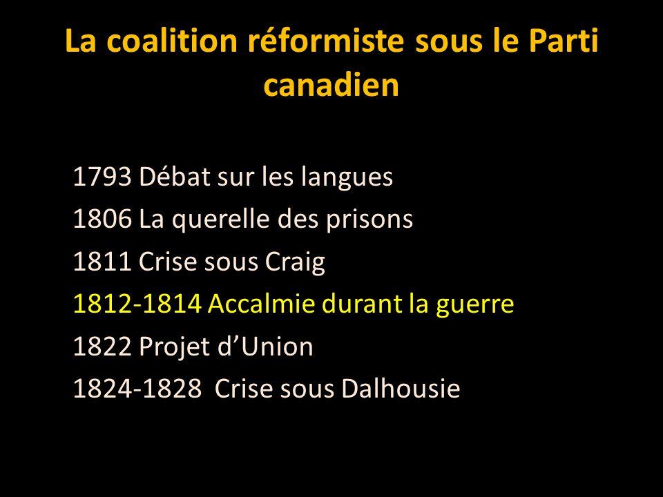 La coalition réformiste sous le Parti canadien