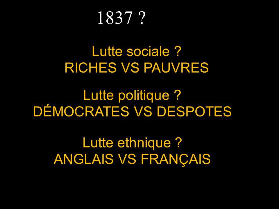 1837 Lutte sociale RICHES VS PAUVRES