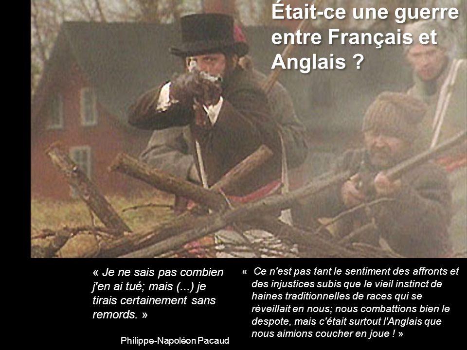 Était-ce une guerre entre Français et Anglais