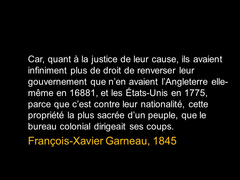 François-Xavier Garneau, 1845