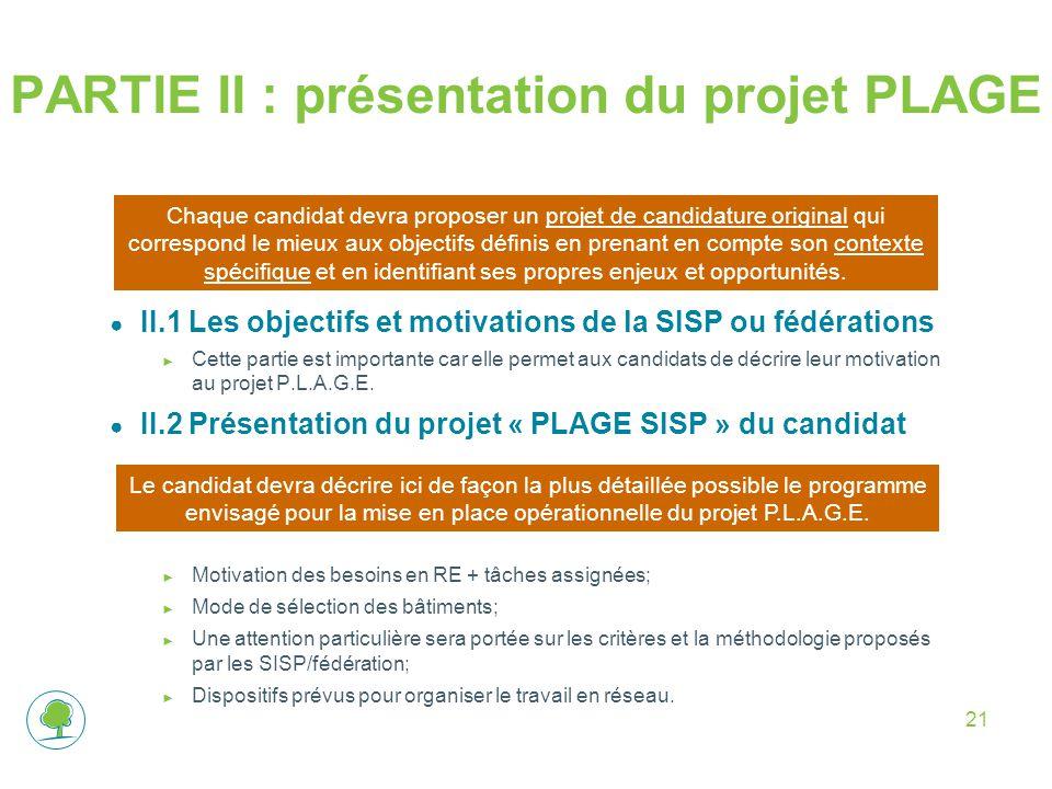 PARTIE II : présentation du projet PLAGE