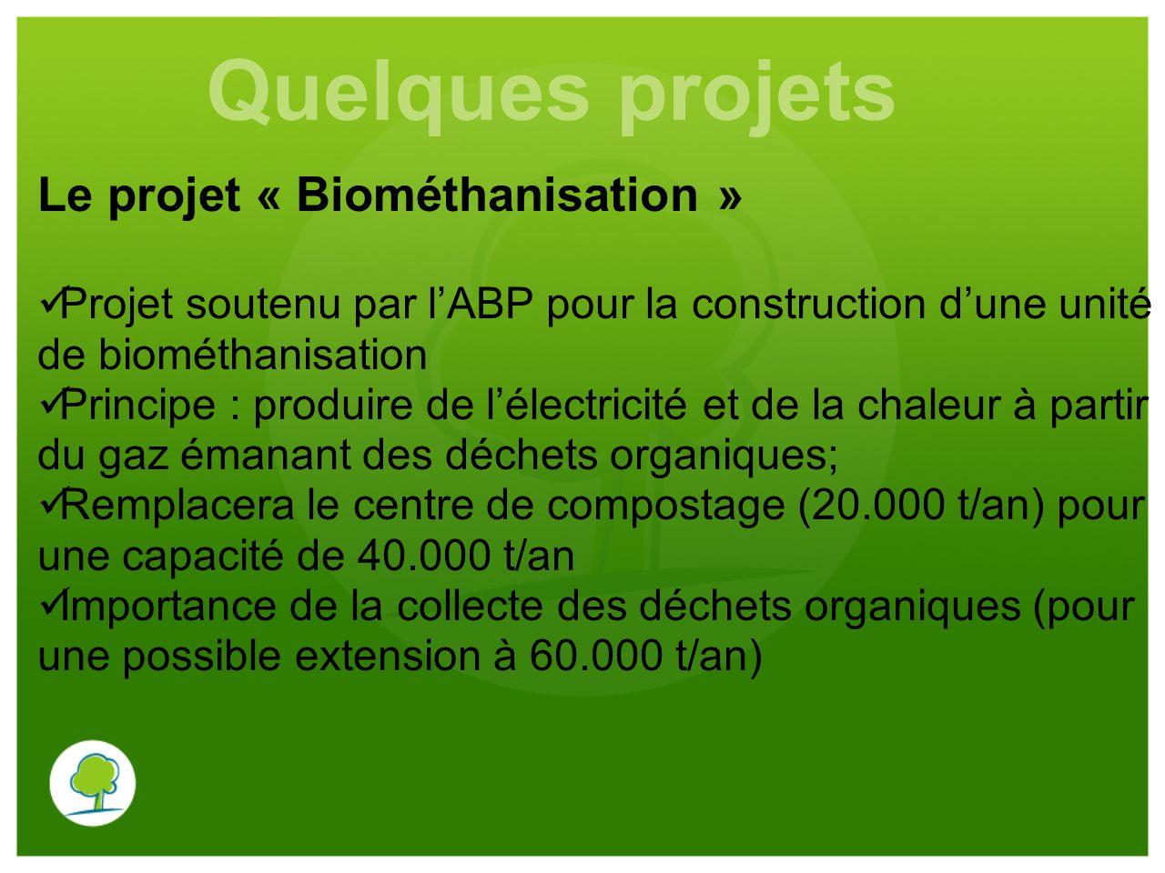 Quelques projets Le projet « Biométhanisation »