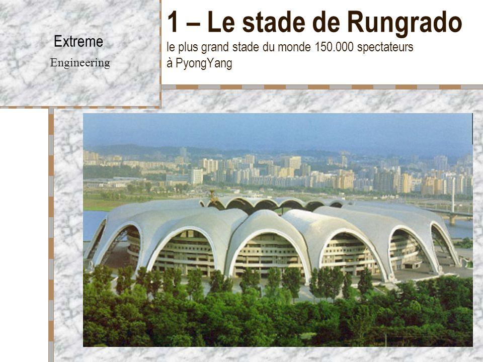 Extreme Engineering 1 – Le stade de Rungrado le plus grand stade du monde 150.000 spectateurs à PyongYang.