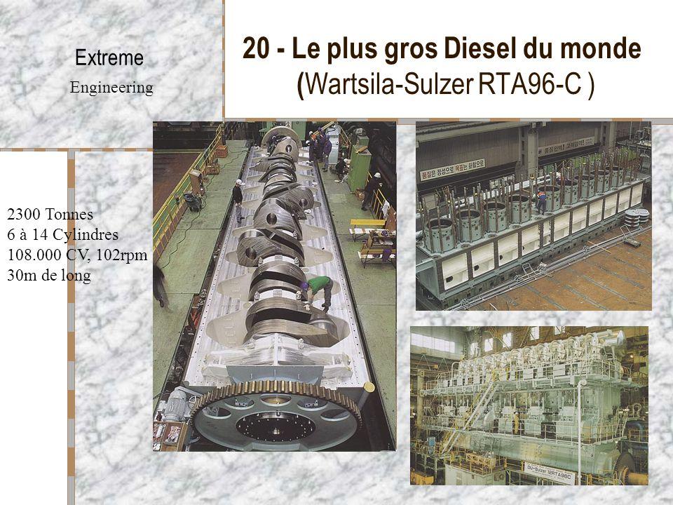 20 - Le plus gros Diesel du monde (Wartsila-Sulzer RTA96-C )