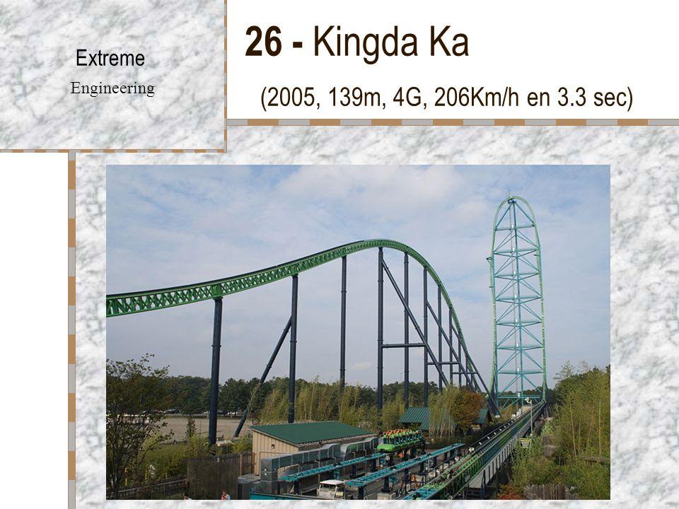 26 - Kingda Ka (2005, 139m, 4G, 206Km/h en 3.3 sec)
