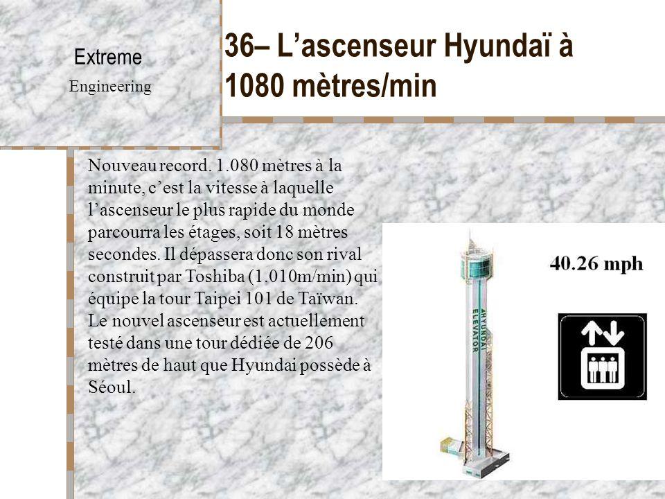 36– L'ascenseur Hyundaï à 1080 mètres/min