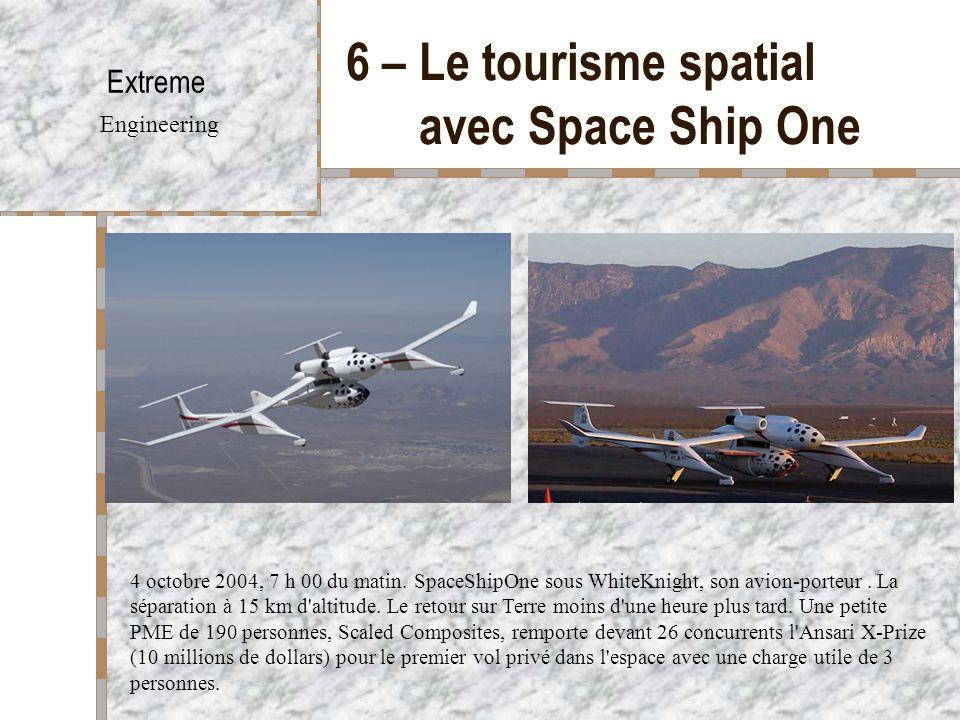 6 – Le tourisme spatial avec Space Ship One