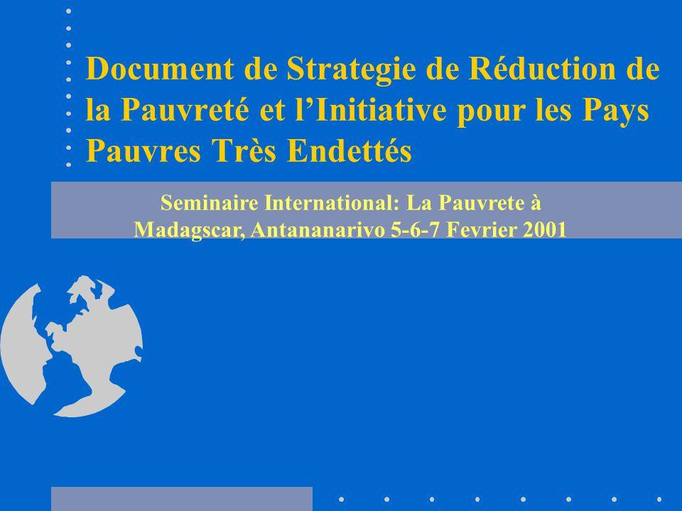 Document de Strategie de Réduction de la Pauvreté et l'Initiative pour les Pays Pauvres Très Endettés