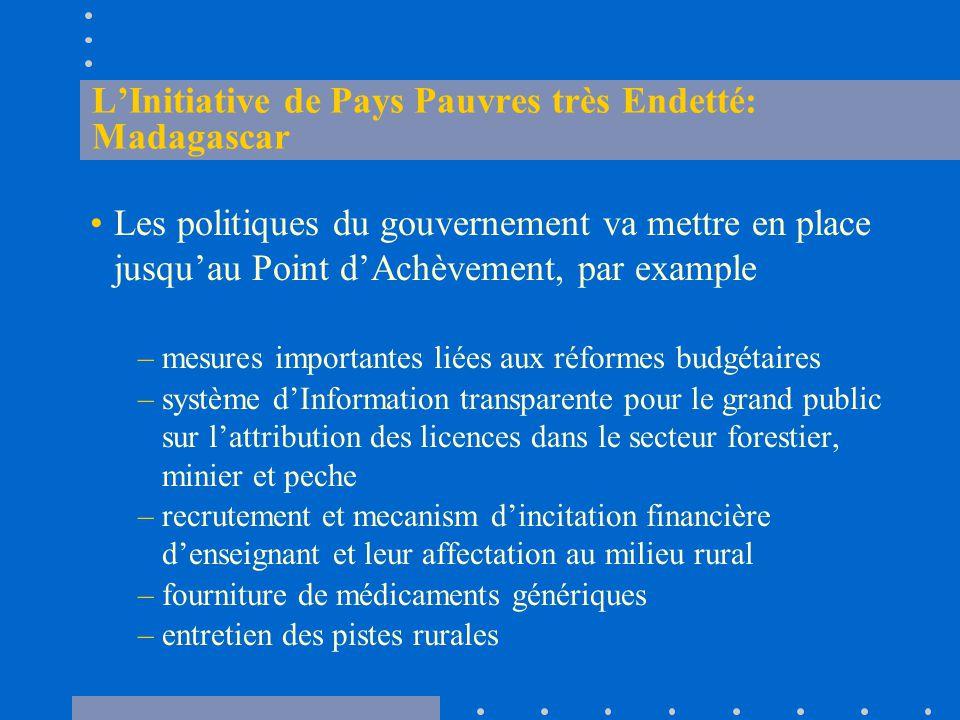 L'Initiative de Pays Pauvres très Endetté: Madagascar