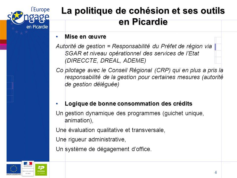 La politique de cohésion et ses outils en Picardie