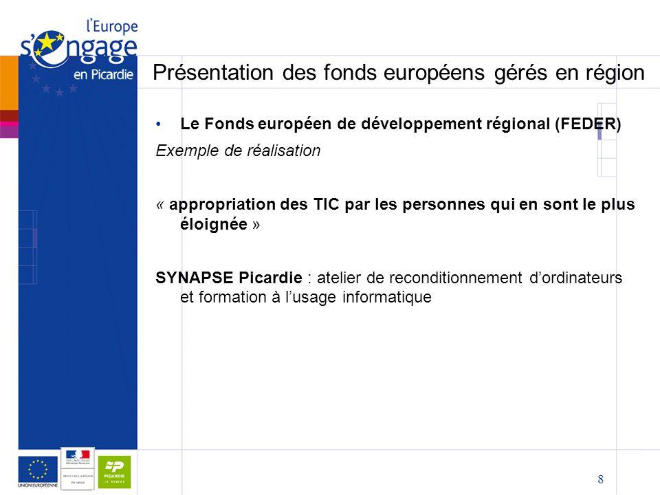 les fonds europ u00e9ens en picardie   pr u00e9sentation et opportunit u00e9s pour les associations cpca ppt
